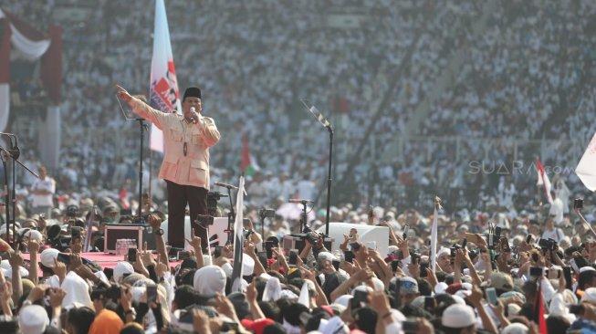 """Prabowo Sindir Pemimpin yang klaim Pertumbuhan Ekonomi 5 Persen ; """"Lima Persen Endasmu!"""""""