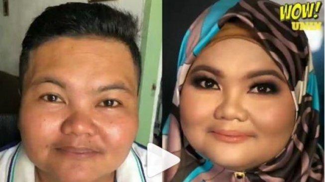 Viral, Video Makeover Satpam Tomboy Bikin Netizen Pangling
