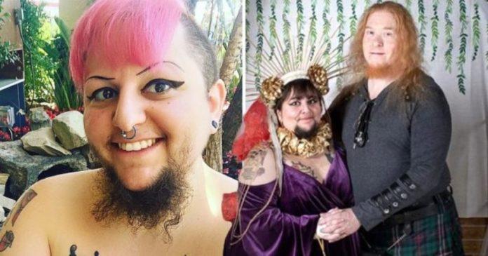 Wanita Berjanggut Ini Akhirnya Menikah