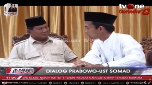 Eksklusif! Ini Video Lengkap Dialog Prabowo dengan Ustadz Abdul Somad