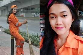 Sellha Purba, Petugas Kebersihan yang Sempat Viral Karena Paras Cantiknya Alami Kecelakaan Pagi Tadi