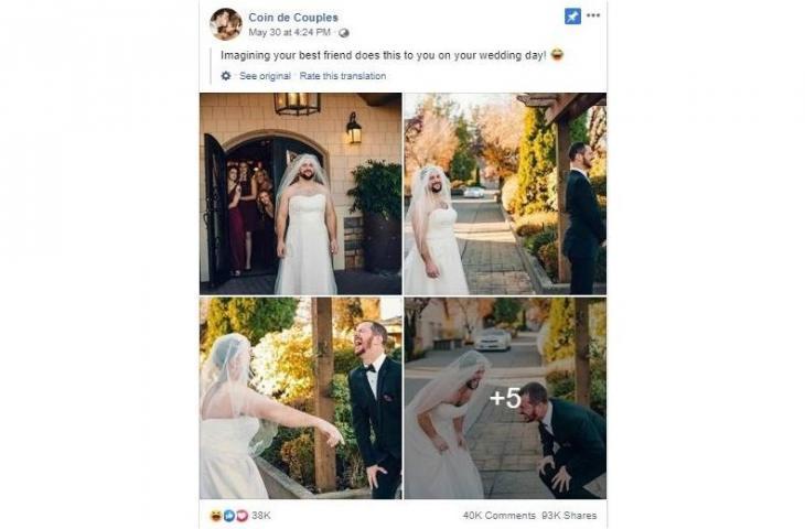 Viral Di Facebook, Prank Sahabat Lelaki Menyamar Menjadi Pengantin Wanita