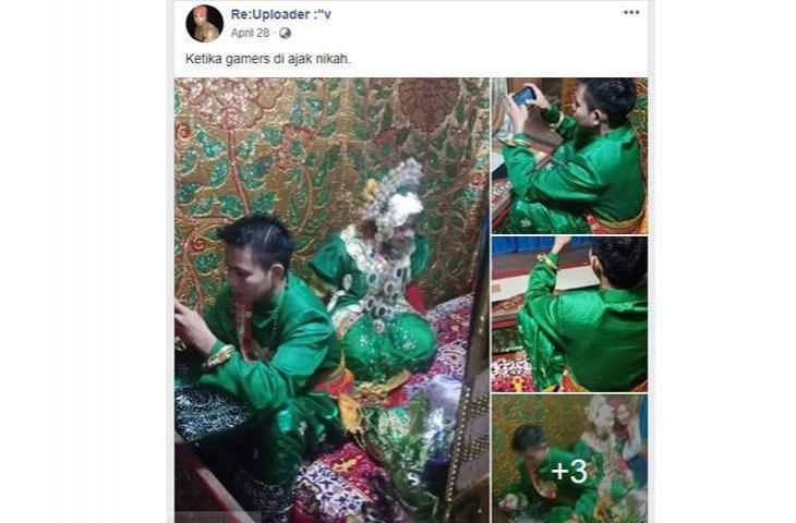 Viral,  Di Pesta Pernikahan Penganten Wanita Melayani Tamu, Eh Penganten Pria Malah Sibuk Main PUBG Mobile