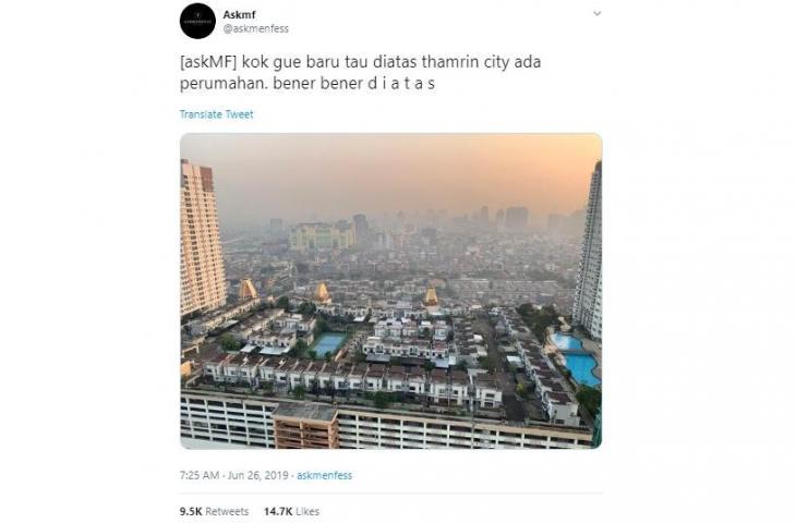 Heboh Pemukiman di Atas Gedung di Jakarta, Ini Komentar Kocak Netizen :  Zonasi paling dekat dengan Tuhan