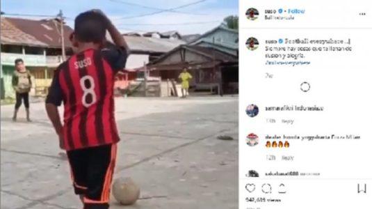 Bocah  di Indonesia Ini Dikagumi dan Diviralkan Suso, Bintang AC Milan