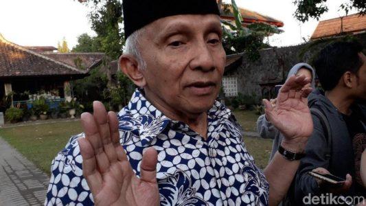 Prabowo Ketemu Jokowi, Amien Rais: Saya akan Dengar Dulu Apa Betul Membahas Rekonsiliasi