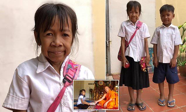 Bocah Kamboja Ini Umurnya Baru10 Tahun,  Tapi Wajahnya Nenek-nenek