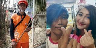 Tukang Sapu di Jakarta Resmi Persunting Bule Cantik Asal Austria