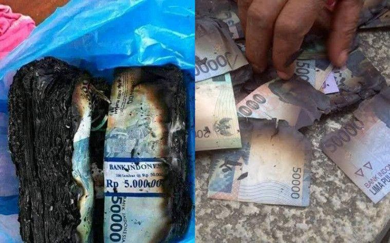 Selain Viral Uang Jutaan Dimakan Rayap, Sebelumnya Pernah Uang Segepok Dibakar Dikira Sampah