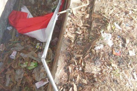 Penghuni Asrama Papua Akui Patahkan Tiang Bendera Merah Putih