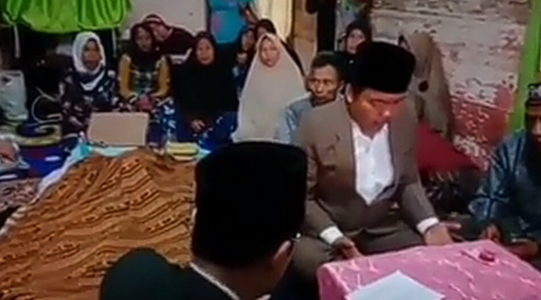 Viral Pengantin Nikah di Samping Jenazah Ibu