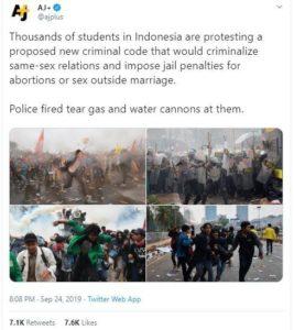 "Salah Bikin Berita Demo, Akun Twitter Media Asing ""Al Jazeera Plus""  Diserbu Netizen Indonesia"