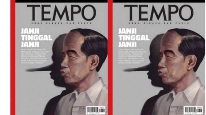 Penjelasan Majalah Tempo Soal Sampul Bergambar Jokowi