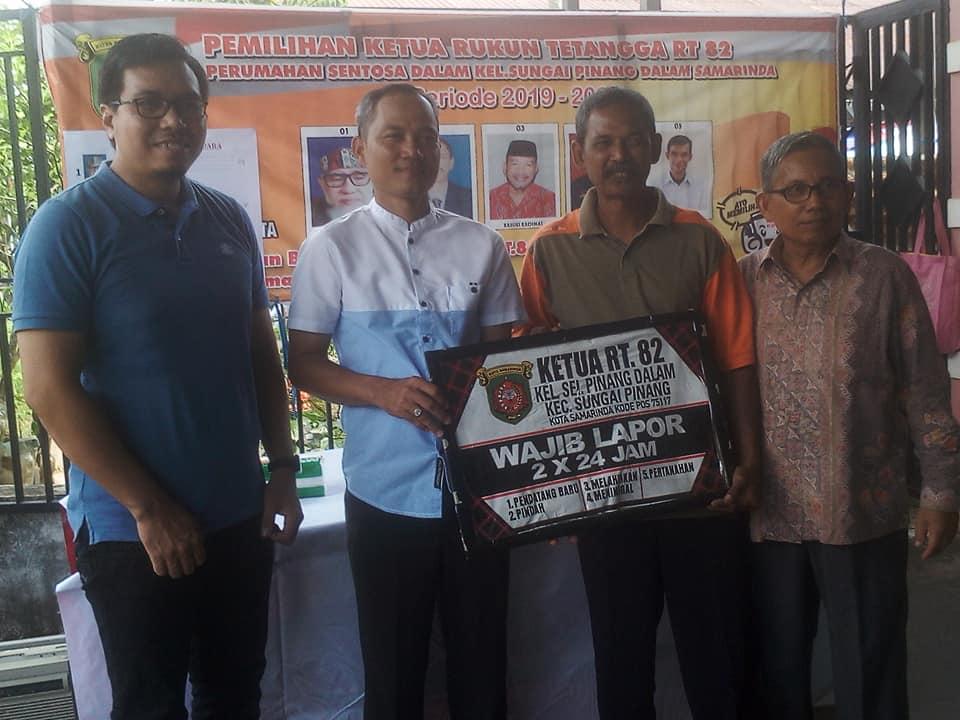 """Calon 02 Menang,  Ada  """"Pemilu"""" Lagi di RT. 82 Kelurahan Sungai Pinang Dalam"""