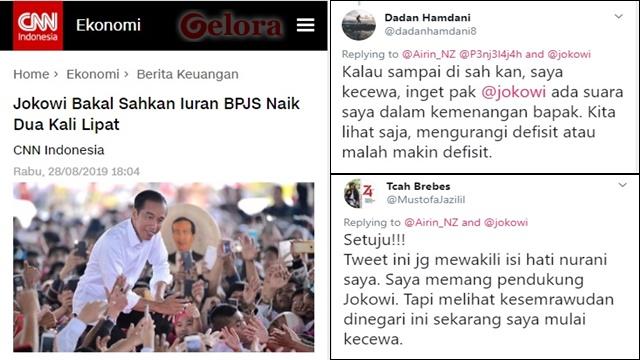 Pendukung Jokowi Mulai Mengeluh dan Kecewa Iuran BPJS Dinaikkan