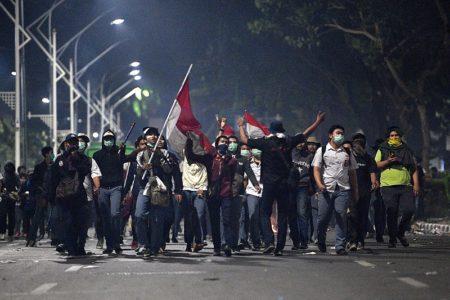 Viral Video Anak STM Ikut Demo Mahasiswa, #STMMelawan Hingga Malam