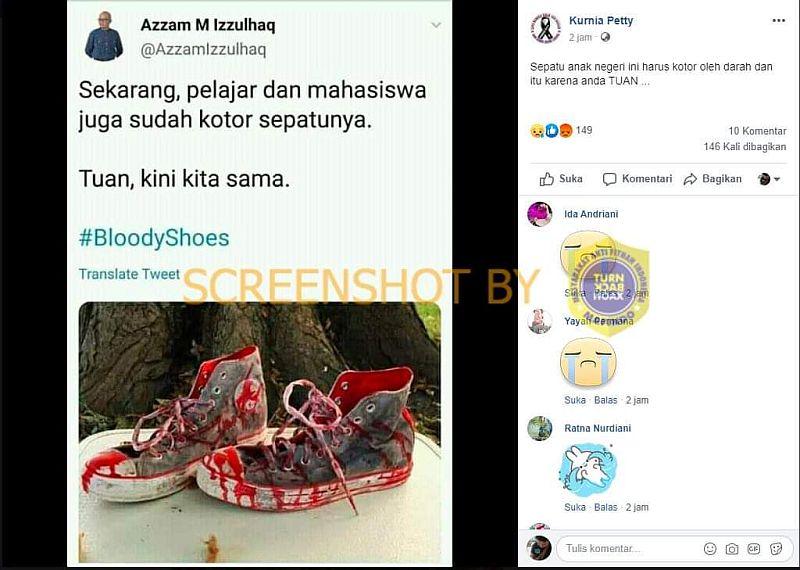 Fakta di Balik Viral Sepatu Bersimbah Darah Mahasiswa & Pelajar