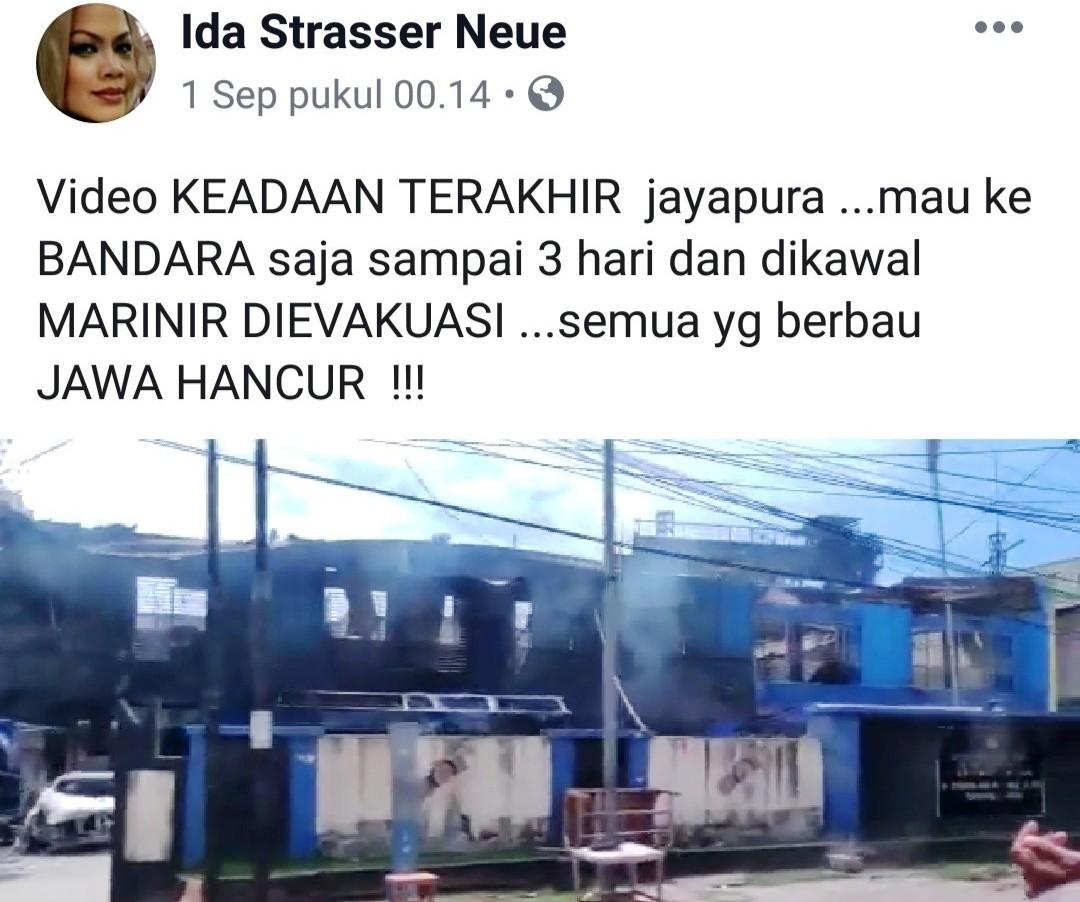 """Heboh Kabar """"Semua Berbau Jawa Hancur"""" di Jayapura, Bagaimana Faktanya?"""