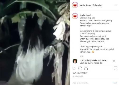 Ih Seram, Penampakan Kuntilanak di Bandar Lampung, Videonya Viral di Medsos