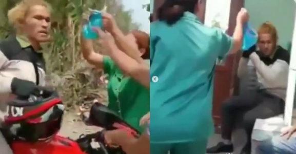 Viral  Rentenir Dituduh Emak-Emak Curi Celana Dalam