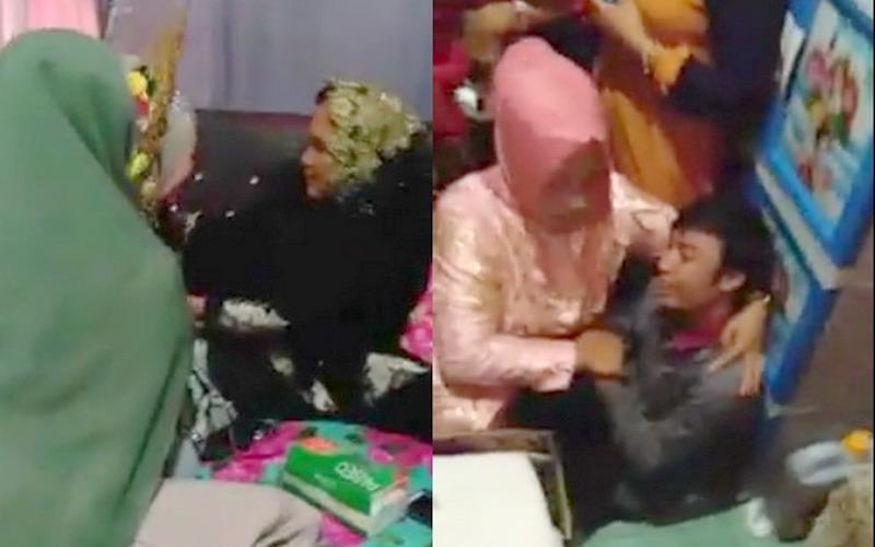 Video Viral Mantan Pacar Terobos Kamar Pengantin Wanita