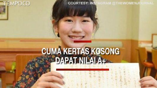 Mahasiswi Ini Mendapat Nilai Tertinggi A+ Sejarah Ninja Setelah menyerahkan Kosong, Kok Bisa?