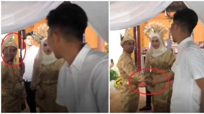 Hadiri Pernikahan Mantan, Lelaki Ini Nampak Kikuk di Hadapan Suaminya