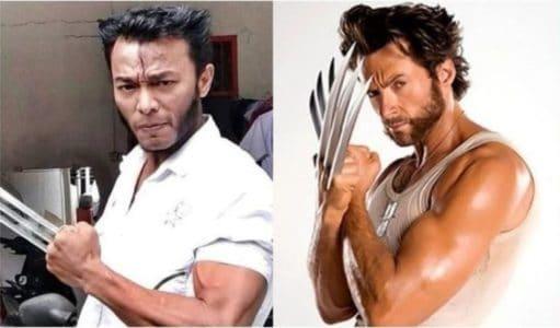 Viral, Wajah Pria Asal Toraja Ini Hampir Mirip Wolverine di Film X-Men