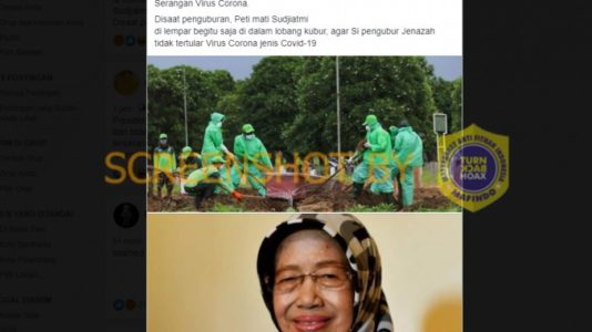 """HOAX : Foto """"penguburan Jenazah ibu kandung Presiden Joko Widodo meninggal dunia karena Serangan Virus Corona"""""""