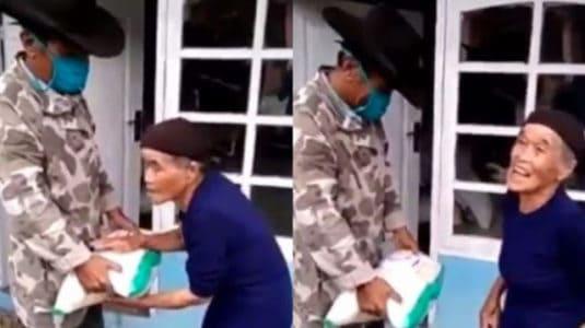 Masyaallah Viral Nenek Tolak Bantuan Beras, Suruh Sumbangkan ke Orang Membutuhkan
