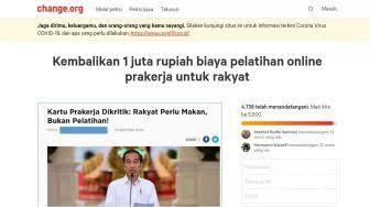 Jokowi Didesak Kembalikan Biaya Pelatihan Online Prakerja, Ini  Petisinya