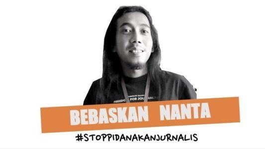 """Petisi : Bebaskan Nanta #StopPidanakanJurnalis, """"Bapak kerja nak. Bapak hape-nya rusak, makanya gak bisa telpon seperti biasa."""""""