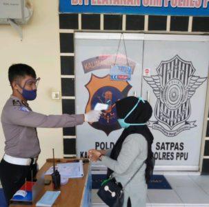 Polres PPU Terapkan Protokol Kesehatan di Pelayanan SIM, Sehari Batasi Hanya 30 Pemohon