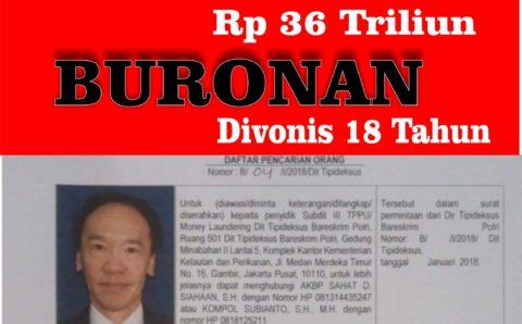 Korupsi Puluhan Triliun Rupiah, Masih Buron Honggo Cuma Divonis 18 Tahun