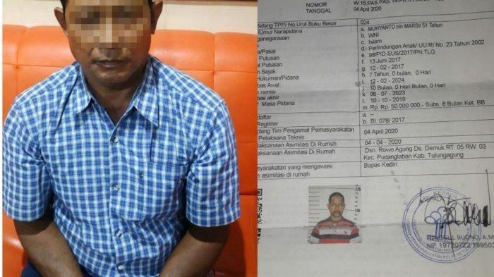 Napi asimilasi yang kembali ditangkap karena menggauli anak-anak, Muhyanto.  Foto ist