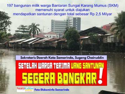Relokasi Warga Samping Pasar Segiri, Pemkot Samarinda Siapkan Santunan, Sekkot :  Setelah Terima  Harus Bongkar!