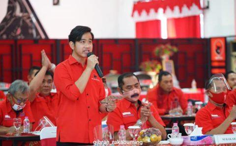 PDIP Umumkan Calon Kepala Daerah, Gibran Anak Jokowi Calon Walikota Surakarta