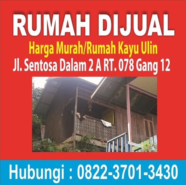 """""""Tanah Dijual Murah di Jalan Sentosa , Rumahnya Bonus"""""""